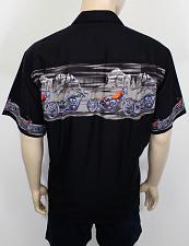 Buy Men's Desert Riders Aloha Motorcycle Print Black Shirt #PF-DR-BK