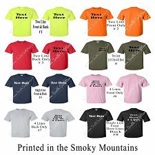Buy Custom T-Shirt Personalized Your Text Name Print Customized S-6XL (13 Colors)