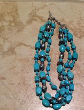 Buy triple strand turquoise beaded necklace: it's never too late to find your island
