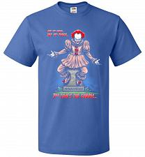 Buy Pennywise The Dancing Clown Adult Unisex T-Shirt Pop Culture Graphic Tee (M/Royal) Hu