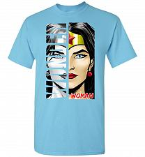 Buy Wonder Woman Unisex T-Shirt Pop Culture Graphic Tee (2XL/Sky) Humor Funny Nerdy Geeky