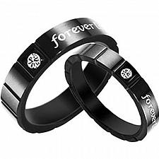 Buy coi Jewelry Black Titanium Forever Ring - JT1432(Size:#US6)