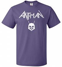 Buy Antman Anthrax Parody Unisex T-Shirt Pop Culture Graphic Tee (XL/Purple) Humor Funny