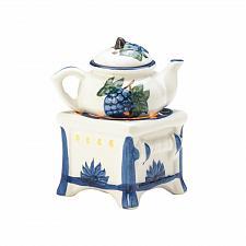 Buy *17713U - Teapot Stove White Porcelain Tea Light Oil Warmer 2pc