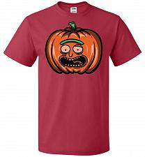 Buy Halloween Pumpkin Rick Adult Unisex T-Shirt Pop Culture Graphic Tee (2XL/True Red) Hu