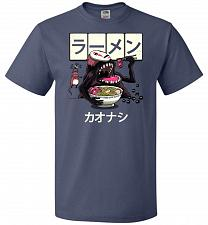 Buy Ramen Kaonashi Unisex T-Shirt Pop Culture Graphic Tee (XL/Denim) Humor Funny Nerdy Ge
