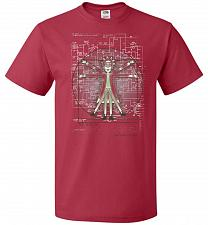 Buy Vitruvian Rick Unisex T-Shirt Pop Culture Graphic Tee (6XL/True Red) Humor Funny Nerd