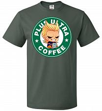 Buy Plus Ultra Coffee Unisex T-Shirt Pop Culture Graphic Tee (M/Forest Green) Humor Funny