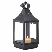 Buy D1066U - Carriage Colonial Style Glass Panel Star Cutout Metal Candle Lantern
