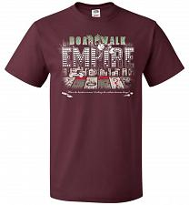 Buy Boardwalk Empire Unisex T-Shirt Pop Culture Graphic Tee (S/Maroon) Humor Funny Nerdy