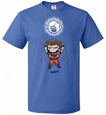 Buy Spirit Bomb Unisex T-Shirt Pop Culture Graphic Tee (4XL/Royal) Humor Funny Nerdy Geek