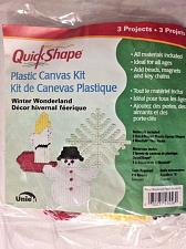 Buy Uniek Quick Shape Plastic Canvas Kit WINTER WONDERLAND Makes 3 Projects NIP