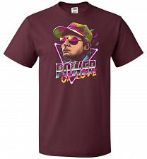 Buy Power Of Love Unisex T-Shirt Pop Culture Graphic Tee (3XL/Maroon) Humor Funny Nerdy G