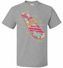 Buy Anatomy Of A Hover Board Unisex T-Shirt Pop Culture Graphic Tee (L/Athletic Heather)