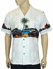 Buy Men's Lets Go Surfing Aloha Shirt #FA-04611