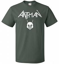 Buy Antman Anthrax Parody Unisex T-Shirt Pop Culture Graphic Tee (L/Forest Green) Humor F