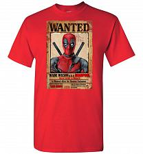 Buy Deadpool Wanted Poster Unisex T-Shirt Pop Culture Graphic Tee (4XL/Red) Humor Funny N