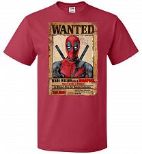 Buy Deadpool Wanted Poster Youth Unisex T-Shirt Pop Culture Graphic Tee (Youth M/True Red