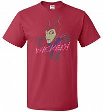 Buy Wicked! Unisex T-Shirt Pop Culture Graphic Tee (XL/True Red) Humor Funny Nerdy Geeky