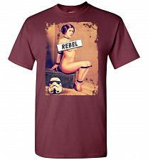 Buy Princess Leia Rebel Unisex T-Shirt Pop Culture Graphic Tee (M/Maroon) Humor Funny Ner