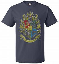 Buy Hogwart's Crest Adult Unisex T-Shirt Pop Culture Graphic Tee (6XL/J Navy) Humor Funny