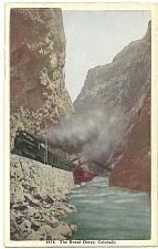 Buy Steam Train Hanging Bridge Royal Gorge Denver Colorado Postcard