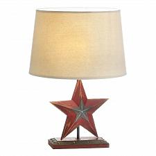 Buy *17903U - Farmhouse Red Iron Star Table Lamp w/Shade