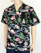 Buy Men's Tropical Flamingos Aloha Shirt #RJ-102C-275