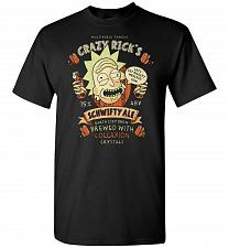 Buy Crazy Rick's Schwifty Ale Unisex T-Shirt Pop Culture Graphic Tee (XL/Black) Humor Fun