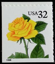 Buy 1996 32c Yellow Rose, SA Scott 3049 Mint F/VF NH