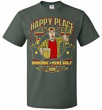 Buy Gilmore's Happy Place Adult Unisex T-Shirt Pop Culture Graphic Tee (M/Forest Green) H