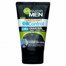 Buy Garnier Men Turbolight Oil Control Charcoal 3 in 1 Face Wash Scrub 100ml