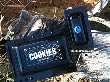 Buy Berner Cookies Harvest Club NEW Premium Black Rolling Tray w Removable Section!