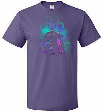 Buy DVA Art Unisex T-Shirt Pop Culture Graphic Tee (L/Purple) Humor Funny Nerdy Geeky Shi