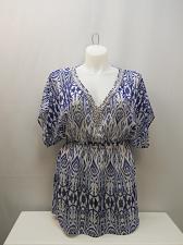 Buy Womens Sheer Swimsuit Cover Up SIZE L ELLEN WEAVER Embellished Neck Kimono Sleev