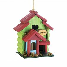 Buy *18413U - Sweetheart Green Rustic Wood Birdhouse