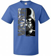 Buy Vader Youth Unisex T-Shirt Pop Culture Graphic Tee (Youth XL/Royal) Humor Funny Nerdy