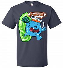 Buy Meseeks Man Unisex T-Shirt Pop Culture Graphic Tee (L/J Navy) Humor Funny Nerdy Geeky
