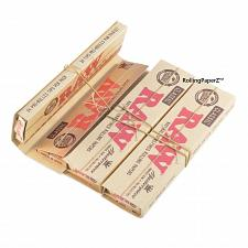 Buy 3X RAW King Size Slim Classic CONNOISSEUR Rolling Papers with Pre Rolled TIPS