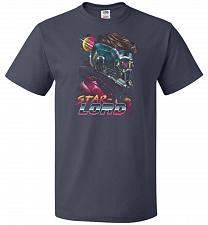 Buy Retro Star Lord Unisex T-Shirt Pop Culture Graphic Tee (L/J Navy) Humor Funny Nerdy G