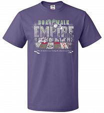 Buy Boardwalk Empire Unisex T-Shirt Pop Culture Graphic Tee (5XL/Purple) Humor Funny Nerd