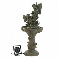 Buy 12842U - Fairy Figures Stone Look Solar Power Water Fountain Yard Art