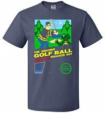Buy Happy Golf Nintendo Parody Cover Adult Unisex T-Shirt Pop Culture Graphic Tee (2XL/De