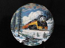 Buy Train Collector Plate Ted Xaras Winter Rails Daylight Run Vintage