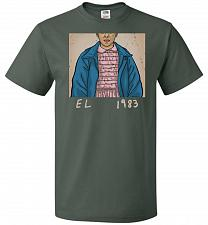 Buy EL 1983 Unisex T-Shirt Pop Culture Graphic Tee (XL/Forest Green) Humor Funny Nerdy Ge
