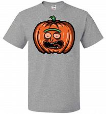 Buy Halloween Pumpkin Rick Adult Unisex T-Shirt Pop Culture Graphic Tee (M/Athletic Heath