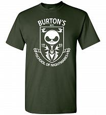 Buy Burton's School Of Nightmares Unisex T-Shirt Pop Culture Graphic Tee (M/Forest Green)