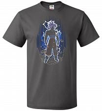Buy Shadow Of The Ultra Instinct Unisex T-Shirt Pop Culture Graphic Tee (4XL/Charcoal Gre