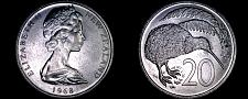 Buy 1968 New Zealand 20 Cents World Coin - Elizabeth II
