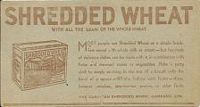 Buy Vintage Ink Blotter Canadian Shredded Wheat Company Ltd Canada